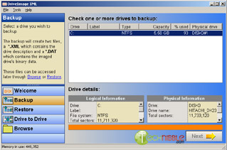 DriveImage XML: Create and restore Backups