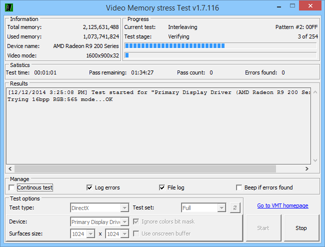 Video Memory Stress Test - Test RAM on Graphic Cards - Technibble