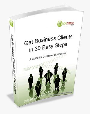Get Business Clients in 30 Easy Steps - Technibbles new guide.