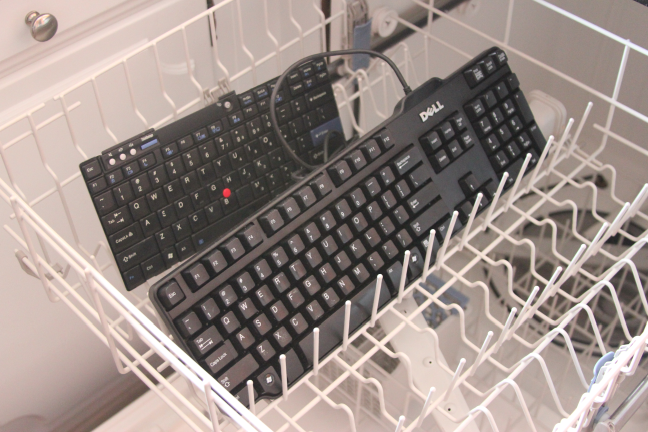 Keyboards in Dishwasher