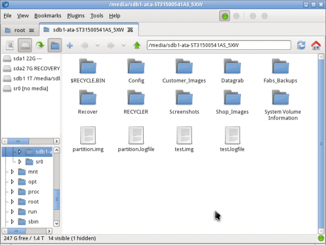name location of disk where files are stored