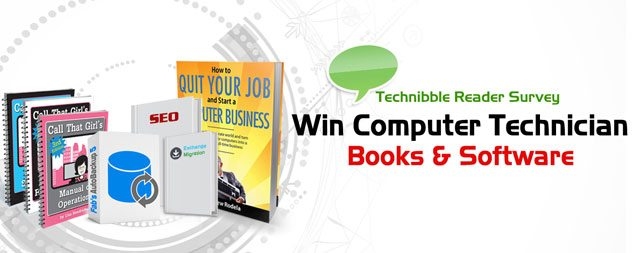 Technibble Survey - Win Computer Technician Books & Software